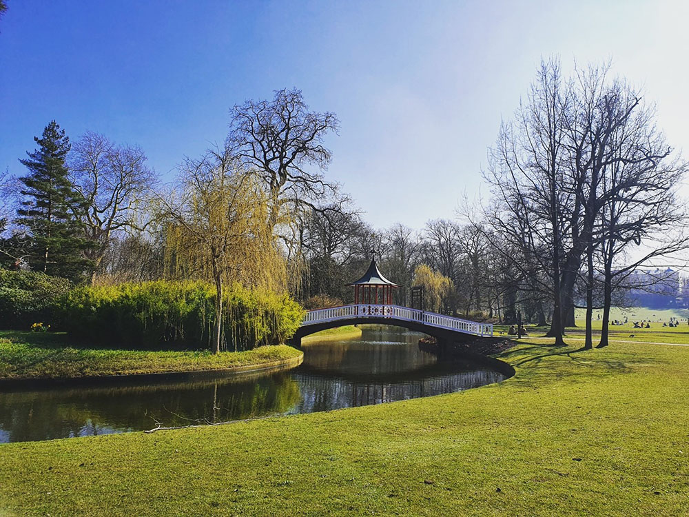 A photo of Frederiksberg Gardens, which is a popular spot for walks and jogs.