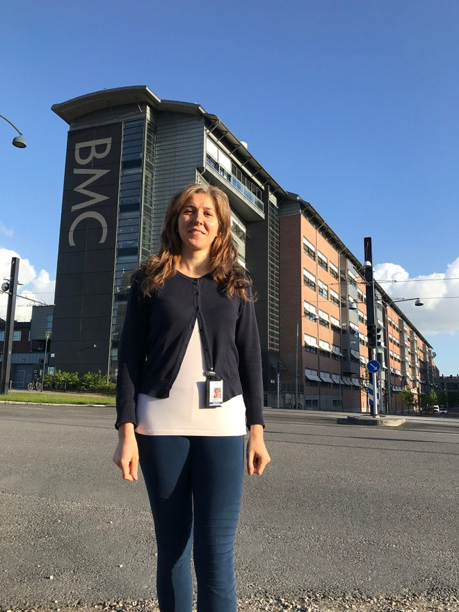A photo of Florentina outside the BMC Biomedical Centre at Lund University where she previously completed a Postdoctoral Fellowship.